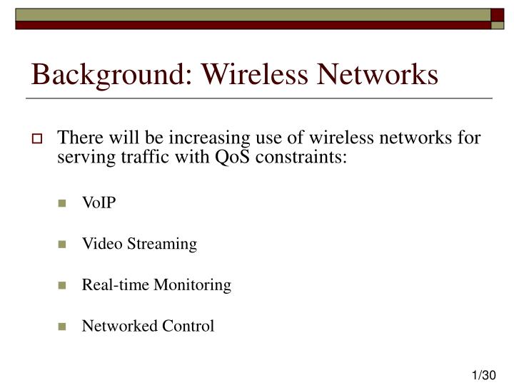 Background wireless networks