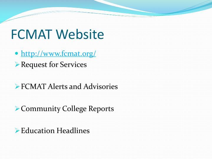 FCMAT Website