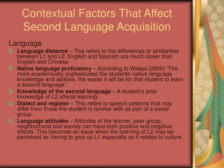 Contextual Factors That Affect