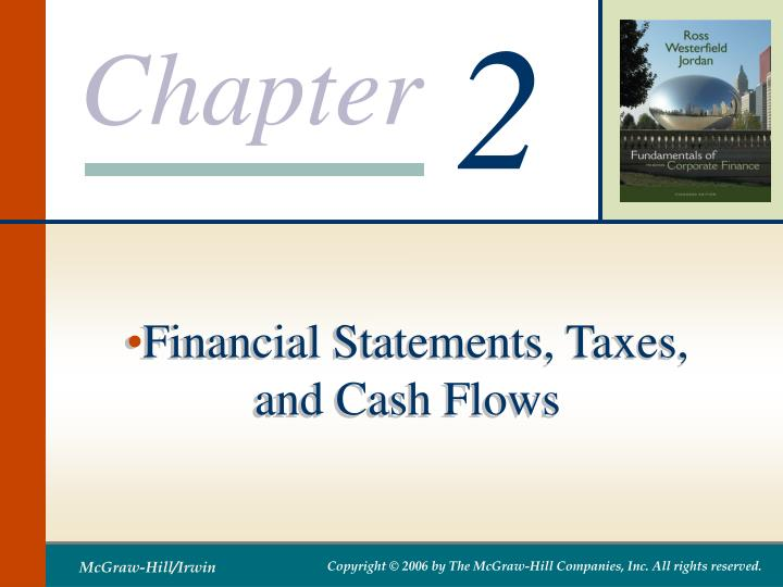 Financial statements taxes and cash flows