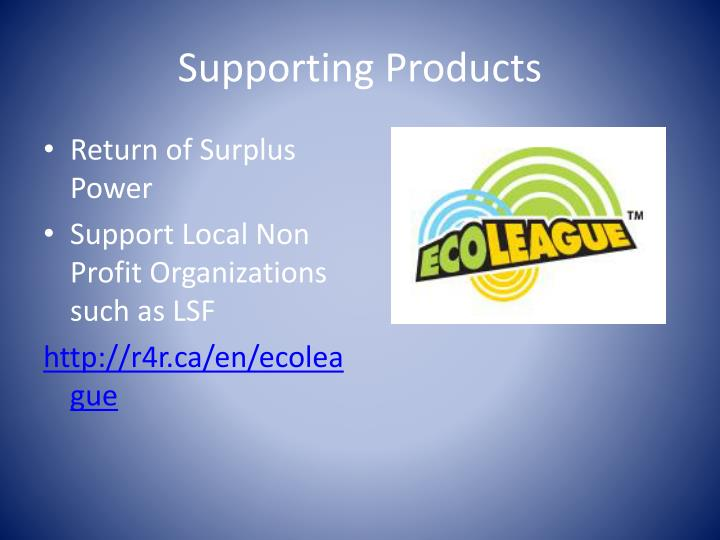 Supporting Products