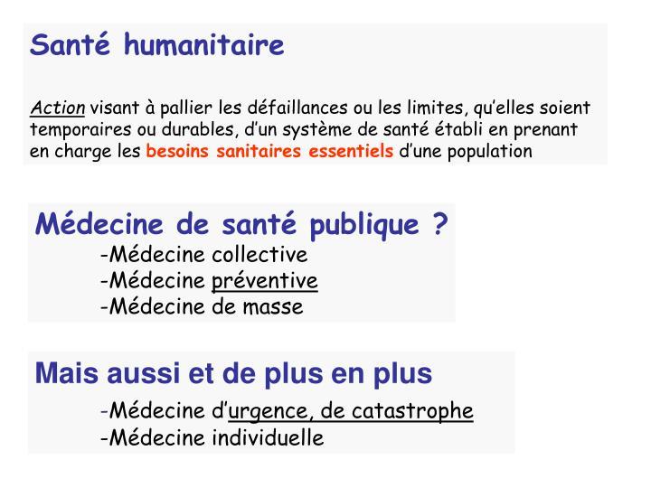 Santé humanitaire
