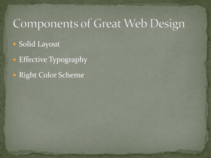 Components of Great Web Design