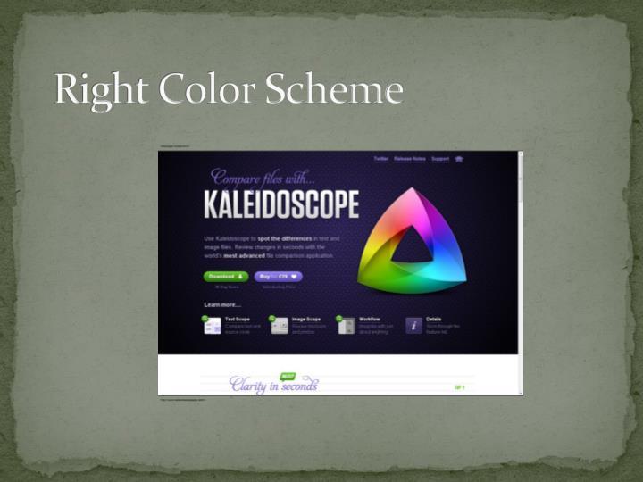 Right Color Scheme