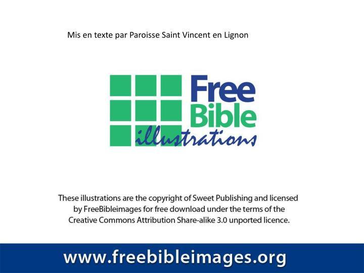 Mis en texte par Paroisse Saint Vincent en Lignon