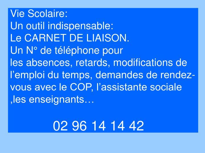Vie Scolaire:
