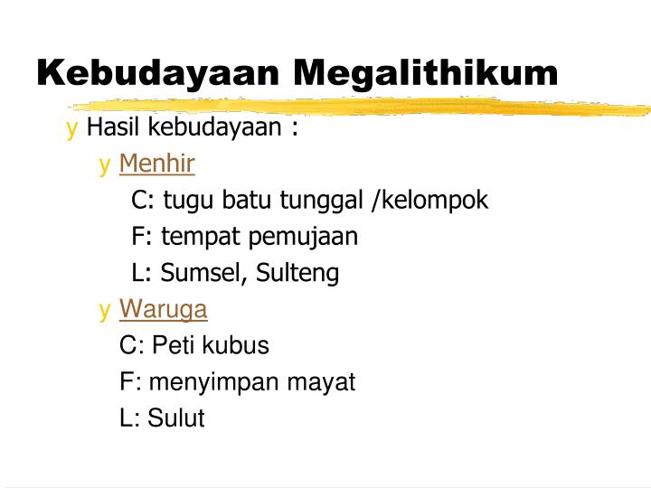 Kebudayaan Megalithikum