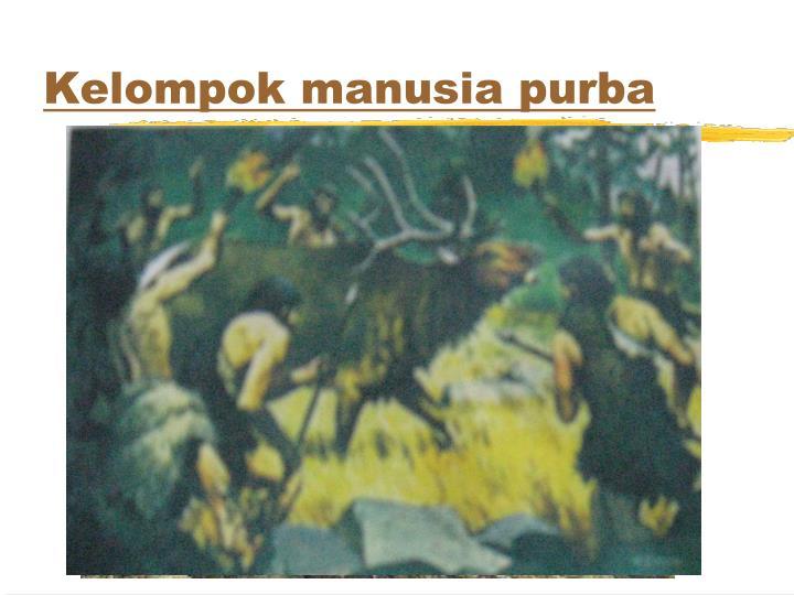 Kelompok manusia purba