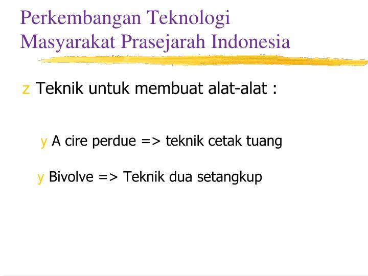 Perkembangan Teknologi Masyarakat