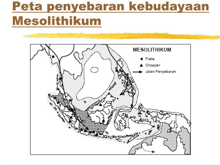 Peta penyebaran kebudayaan Mesolithikum