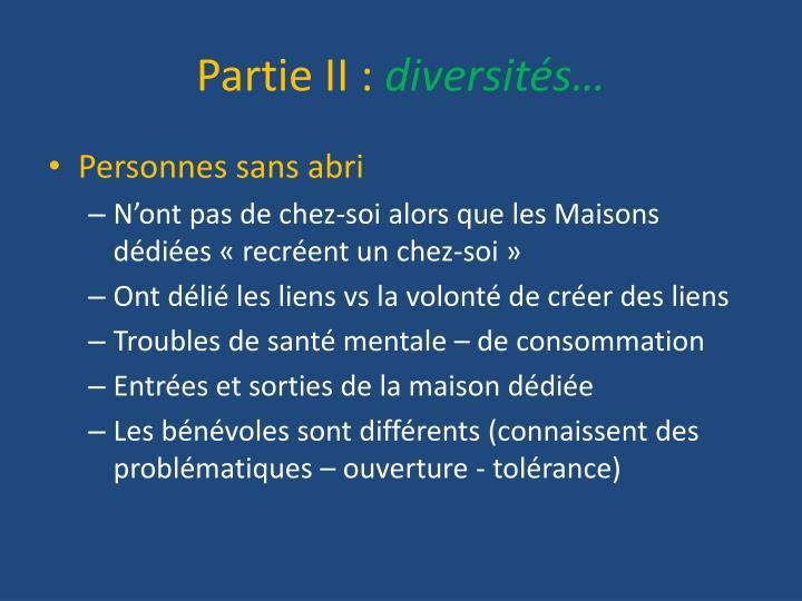 Partie II :