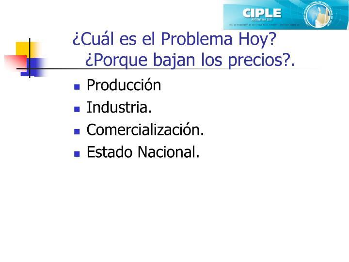 ¿Cuál es el Problema Hoy?