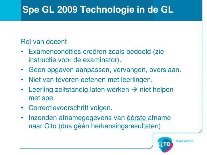 Spe GL 2009 Technologie in de GL