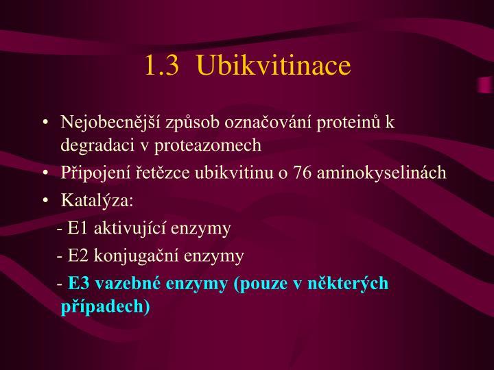 1.3  Ubikvitinace