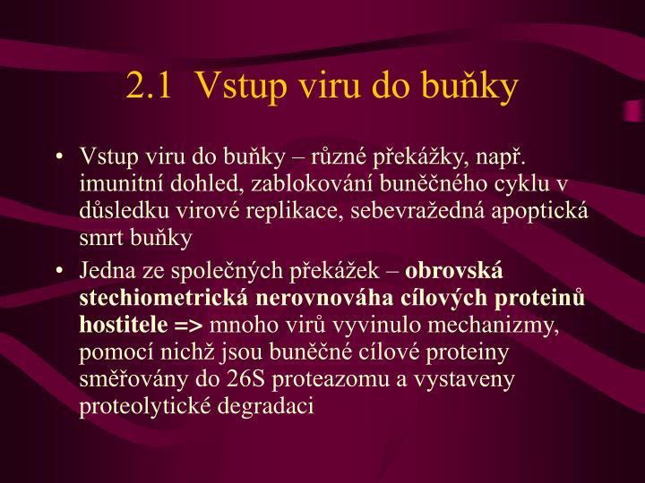 2.1  Vstup viru do buňky