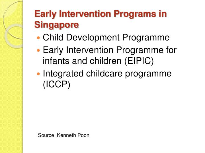 Early Intervention Programs in Singapore