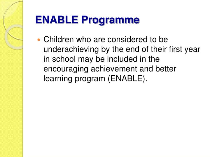ENABLE Programme