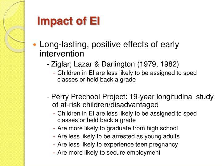 Impact of EI