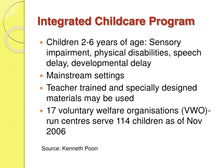 Integrated Childcare Program