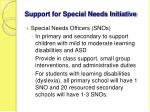 support for special needs initiative
