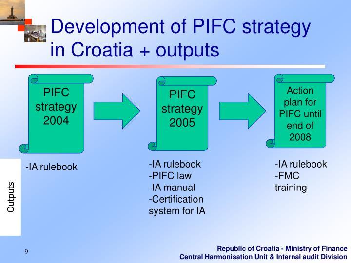 Development of PIFC strategy in Croatia + outputs