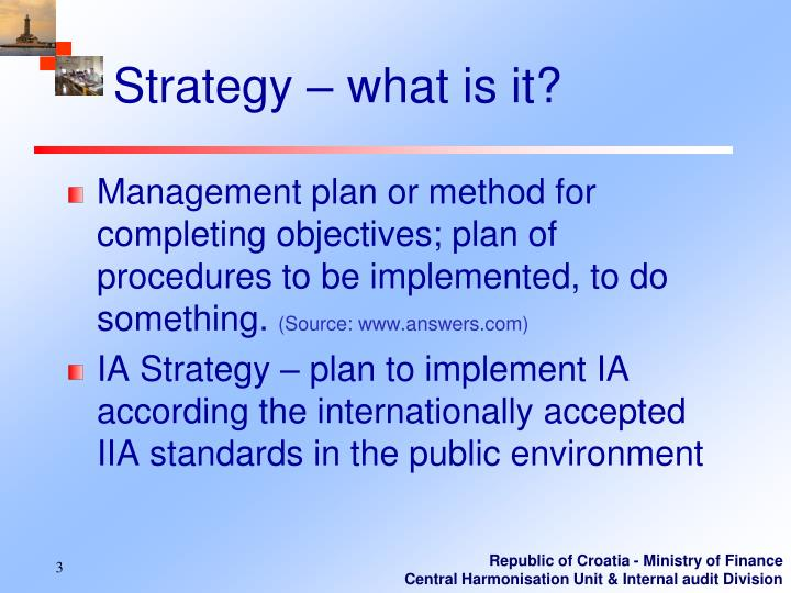 Strategy – what is it?
