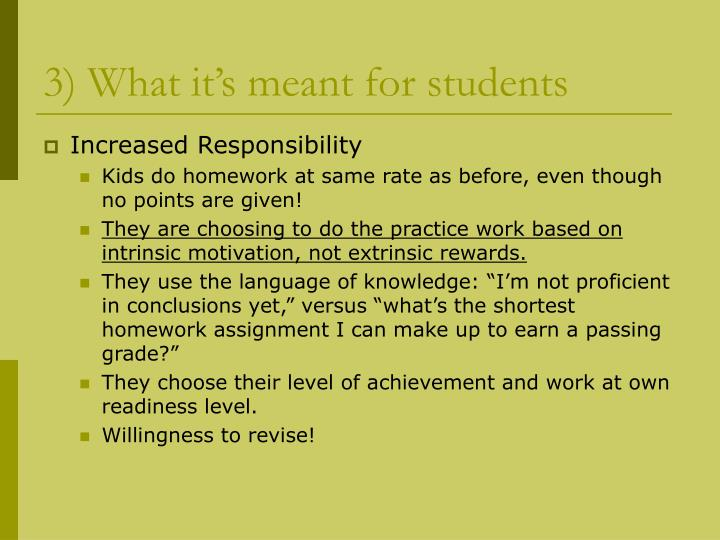 3) What it's meant for students