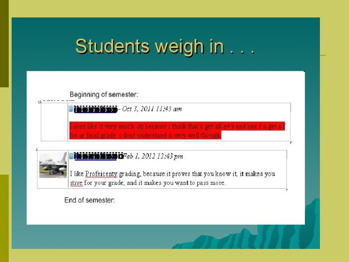 Students weigh in…