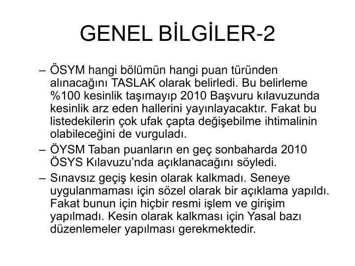 GENEL BİLGİLER-2