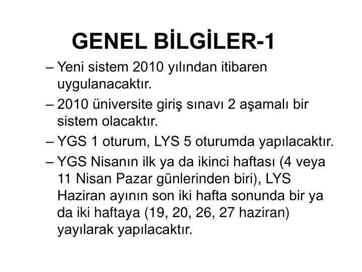 GENEL BİLGİLER-1