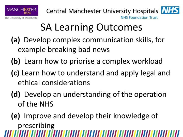 SA Learning Outcomes