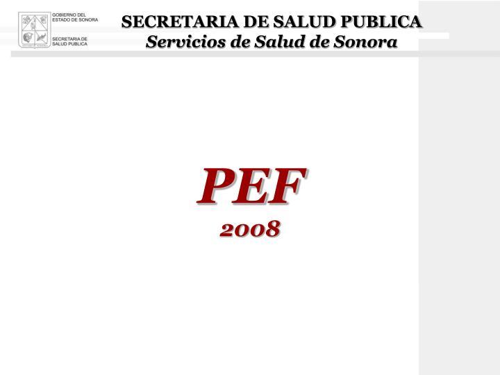 SECRETARIA DE SALUD PUBLICA