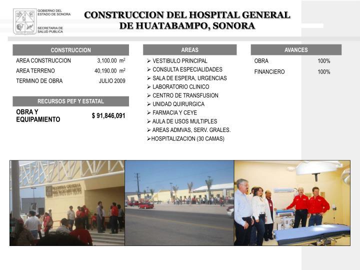 CONSTRUCCION DEL HOSPITAL GENERAL