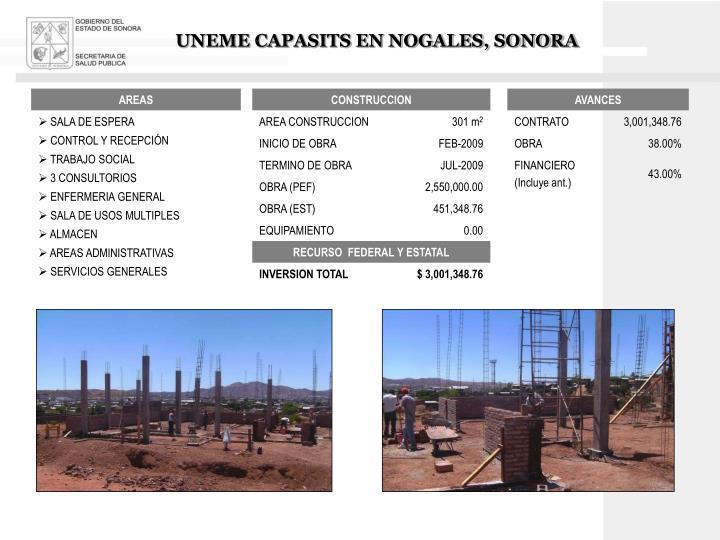 UNEME CAPASITS EN NOGALES, SONORA