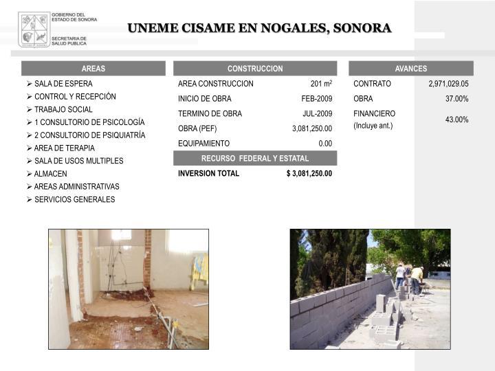 UNEME CISAME EN NOGALES, SONORA