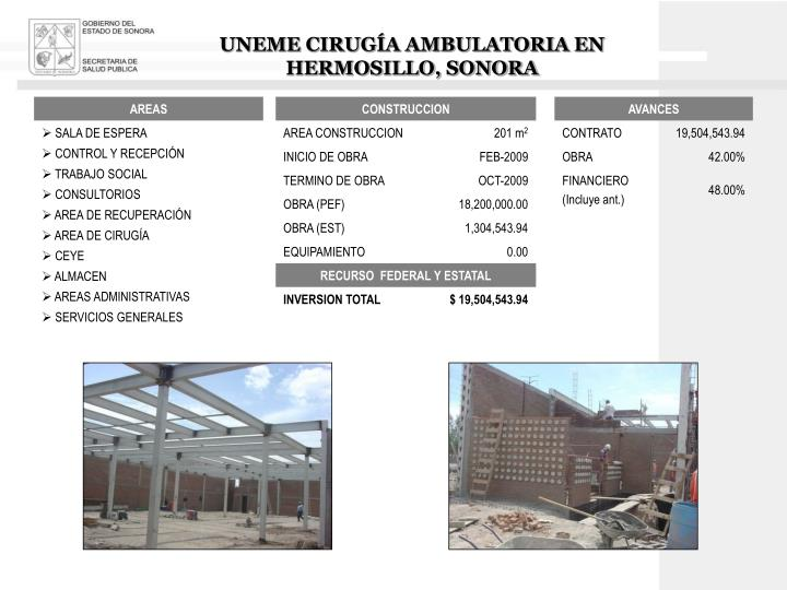 UNEME CIRUGÍA AMBULATORIA EN HERMOSILLO, SONORA