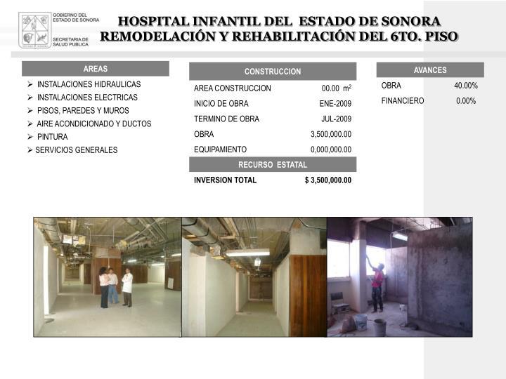 HOSPITAL INFANTIL DEL  ESTADO DE SONORA