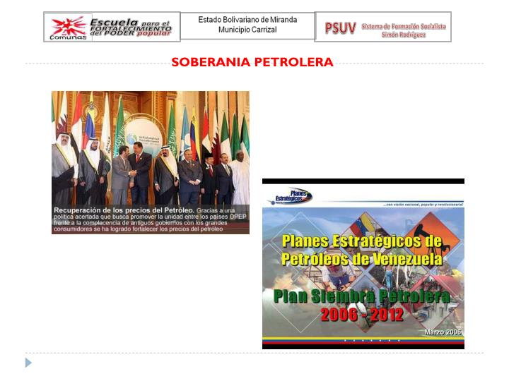 SOBERANIA PETROLERA