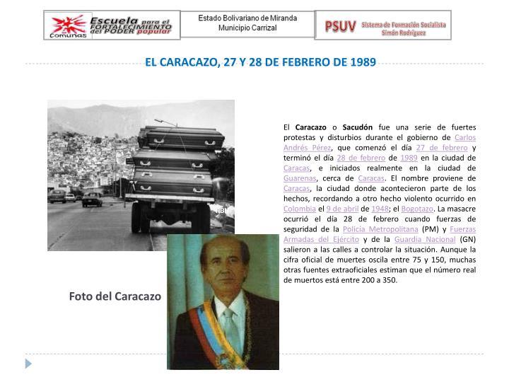EL CARACAZO, 27 Y 28 DE FEBRERO DE 1989
