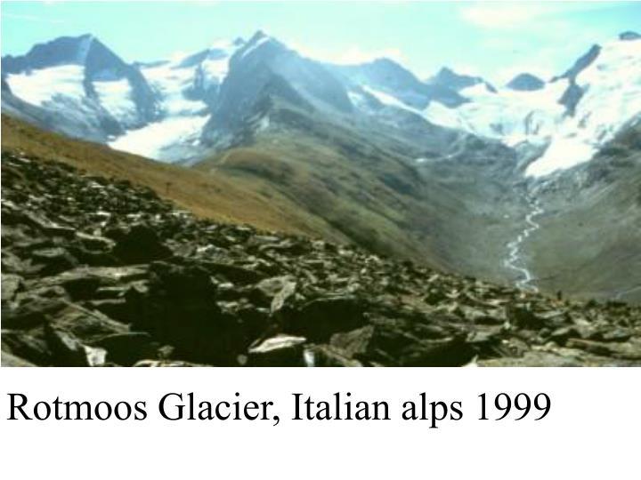 Rotmoos Glacier, Italian alps 1999