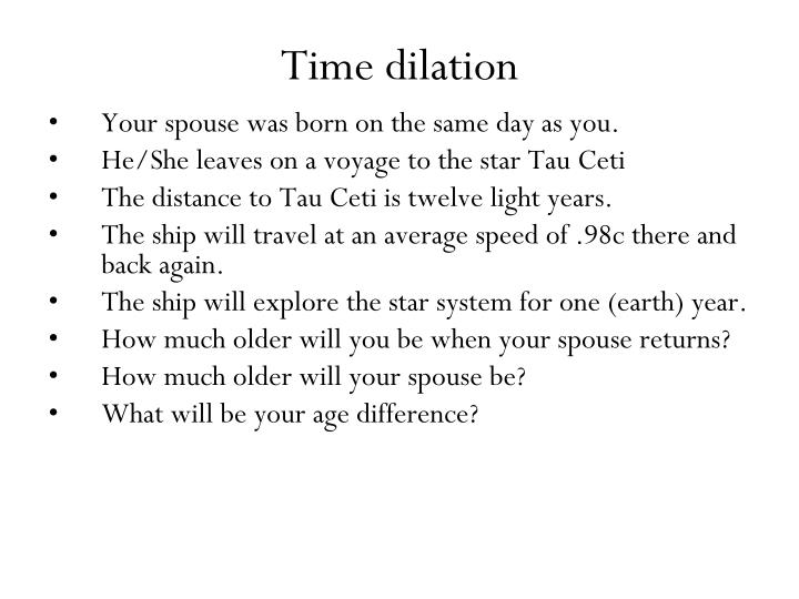 Time dilation