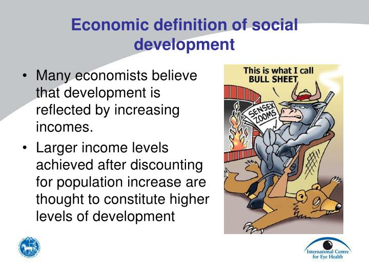 Economic definition of social development