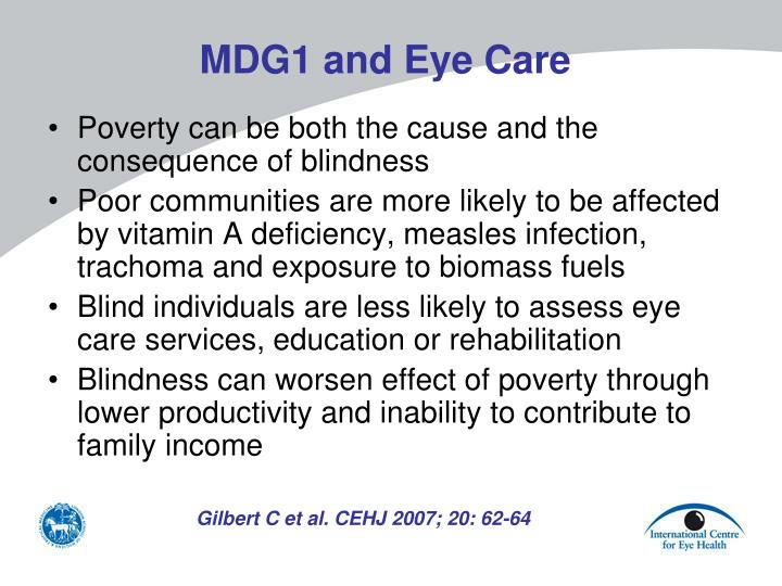 MDG1 and Eye Care