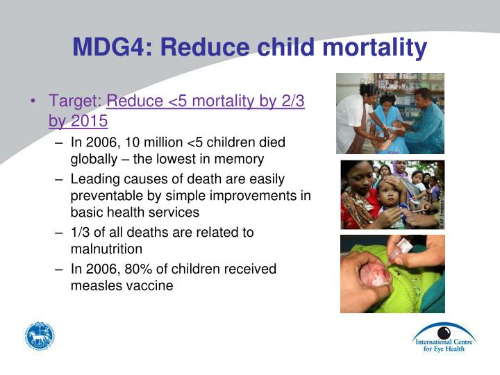 MDG4: Reduce child mortality