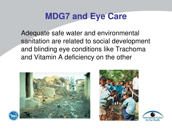 MDG7 and Eye Care
