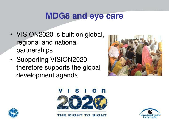 MDG8 and eye care