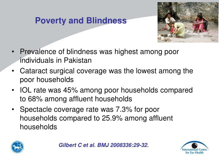 Poverty and Blindness