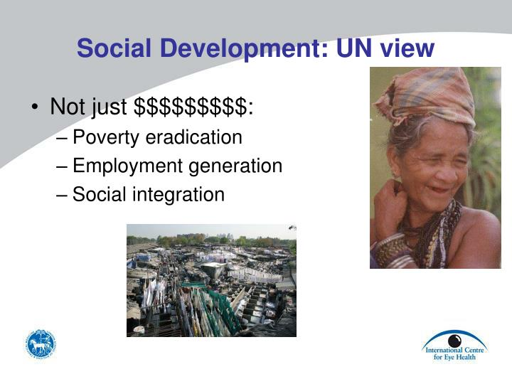Social Development: UN view