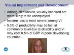 visual impairment and development