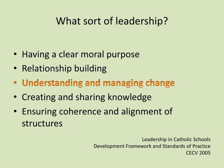 What sort of leadership?